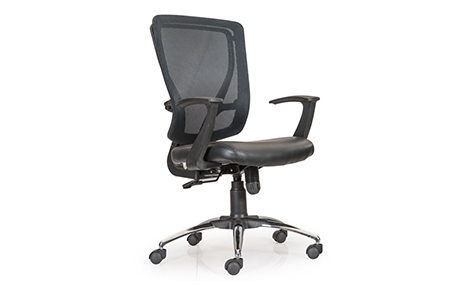 Buy Glory Medium Back Black Mesh Chair Revolving Office