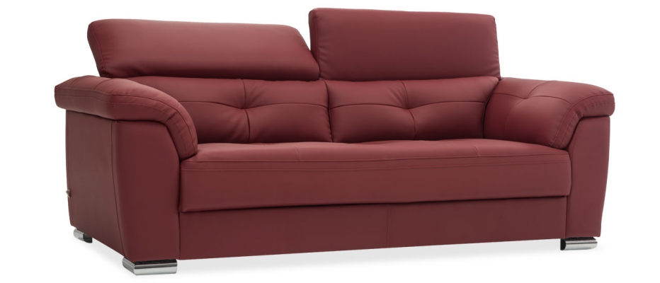 Buy Charles 3 Seater Red Leatherette Sofa Online At Durian