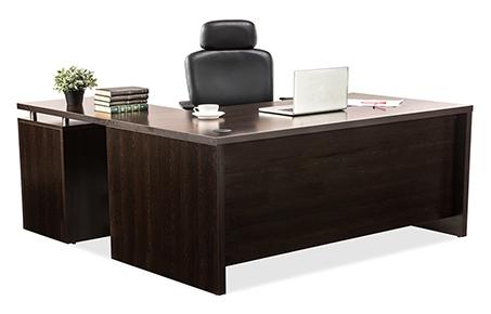 Buy Dws Brown L Shaped Managerial Desk Office Desk