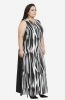 Monochrome Formal Maxi  Dress with Contrast Back