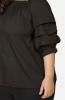 Black Off-Shoulder Ruffled Casual Top