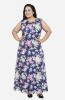 Formal Floral Sleeveless Maxi  Dress