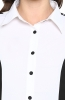 Formal White Shirt with Contrast Side Panels