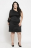 Casual One Shoulder Black Party Dress with Bishop Sleeves