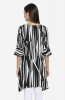 Black Striped Boat Neck Tunic