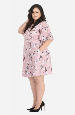 Fit and Flare Spring Blooms Dress