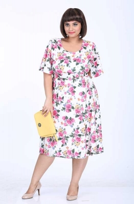Floral Fit and Flare Casual Dress