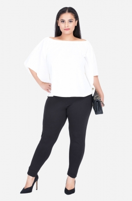 Flare Sleeve Off Shoulder Rayon Top