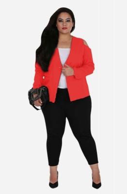 Cold Shoulder Red Jacket