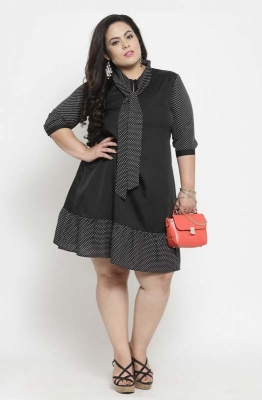 Fit and Flare Microdot Formal Dress