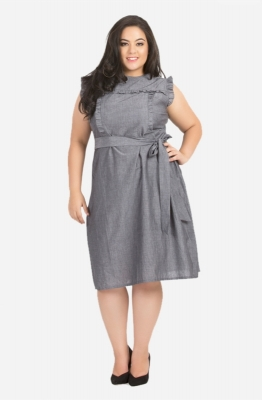 Ruffle Galore Tie Waist Dress