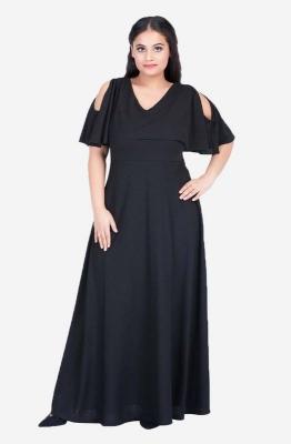 V-Neck Cold Shoulder gown