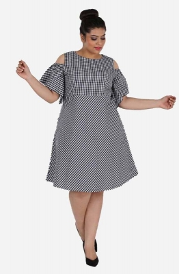 Gingham Fit and Flare Dress