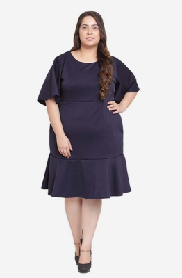 Flutter Sleeve Dress with Pockets