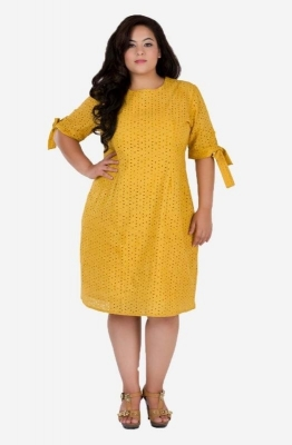Schiffly A-Line Dress