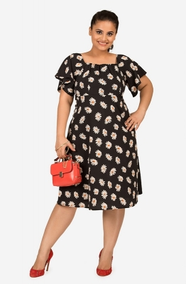 Fit &Flare Floral Print Casual Dress