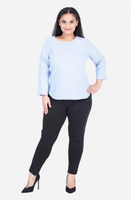 Round Neck Relaxed Fit Top