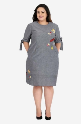 Quirky Pop Style Chambray Dress