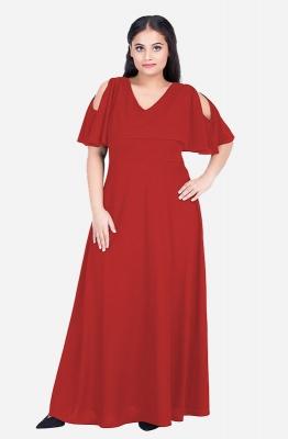 Overlay V-Neck Gown