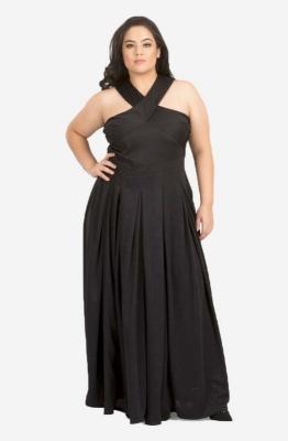 Cross Black Maxi Dress