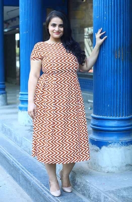 Chevron Pleated Summer Dress