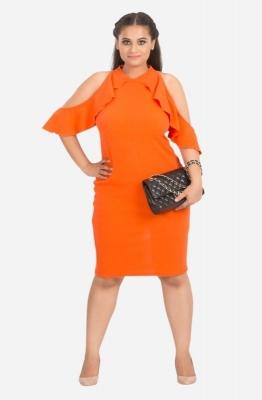 Summer Cold Shoulder Ruffle Dress