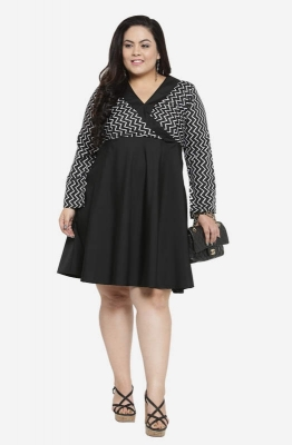 Fit & Flare Monochrome Party Dress