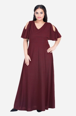 Casual Cold Shoulder Maxi Dress