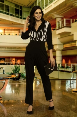 Monochrome Button Front Formal Double Collar Jumpsuit