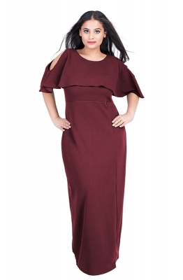Casual Round Neck Maxi Dress