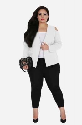 Cold Shoulder White Jacket
