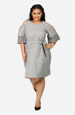 Cold shoulder Denim shift dress