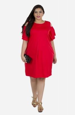 Layered Sleeve Cold Shoulder Dress