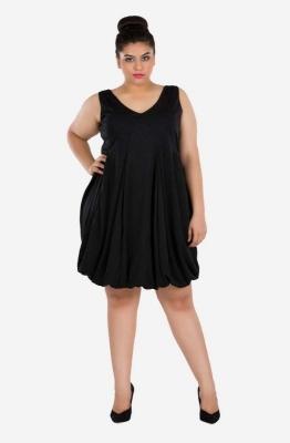 V- Neck Balloon Dress