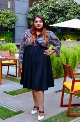 Fit & Flare Monochrome Party Dress
