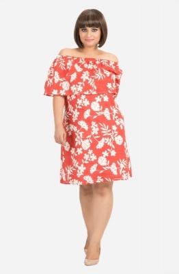 Off-Shoulder Floral Ruffle Dress