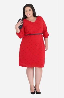 V-Neck Straight Fit Dress