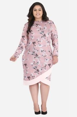Cold Shoulder Overlap dress