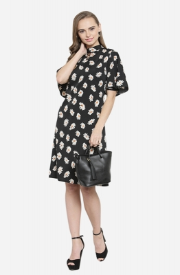 Casual A-line Floral  Dress