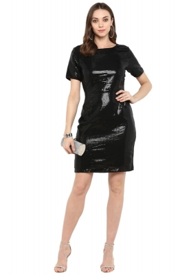 Bodycon Solid Party Dress
