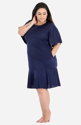 Flutter Sleeve Dress with Pockets