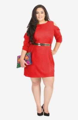 Round Neck A-Line Dress