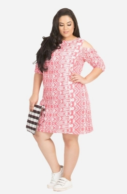 Straight Cut Cold Shoulder Dress