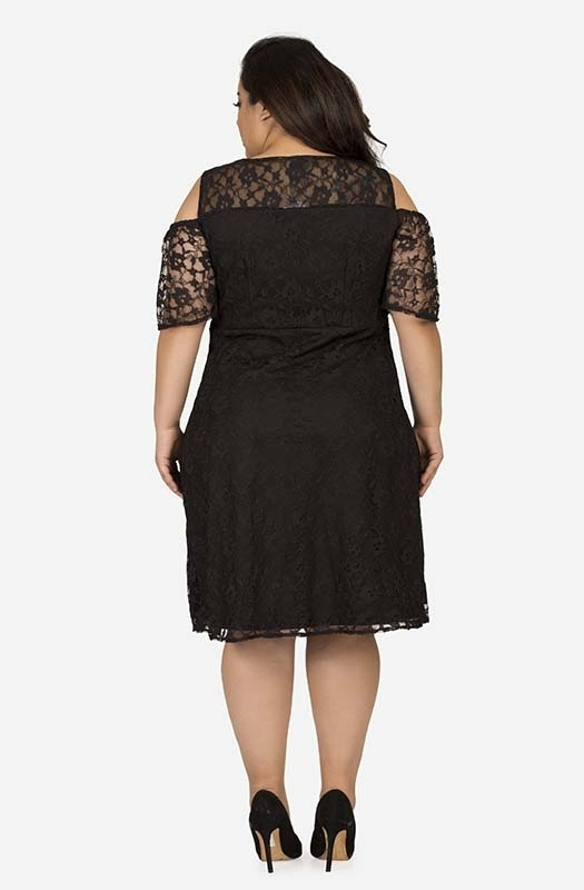 Cold shoulder Lace detail dress