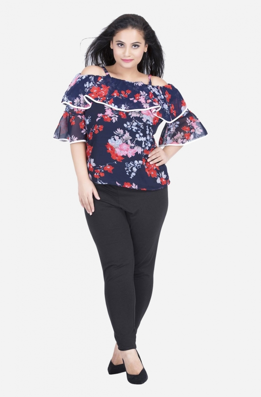 Ruffle on Off the Shoulder Top