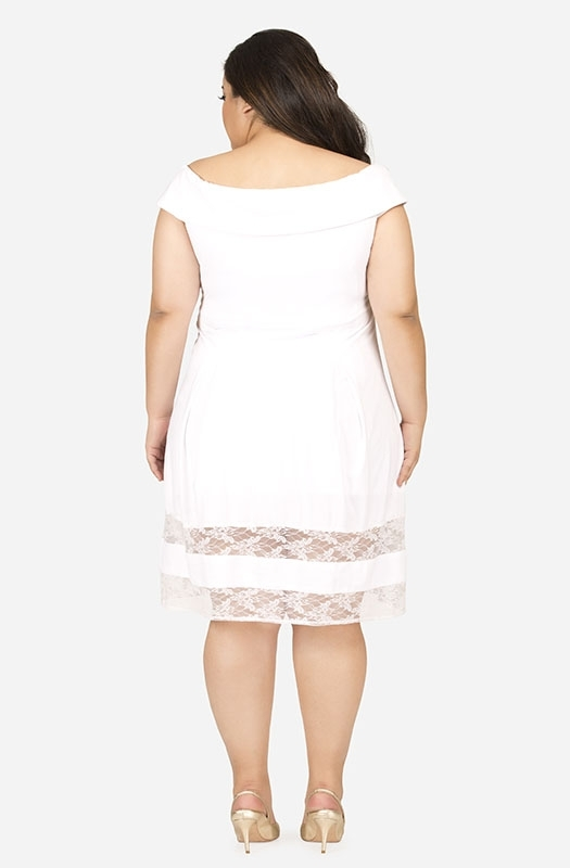 White Off-Shoulder Party Dress