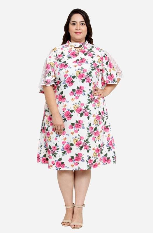Casual Floral A-line Dress