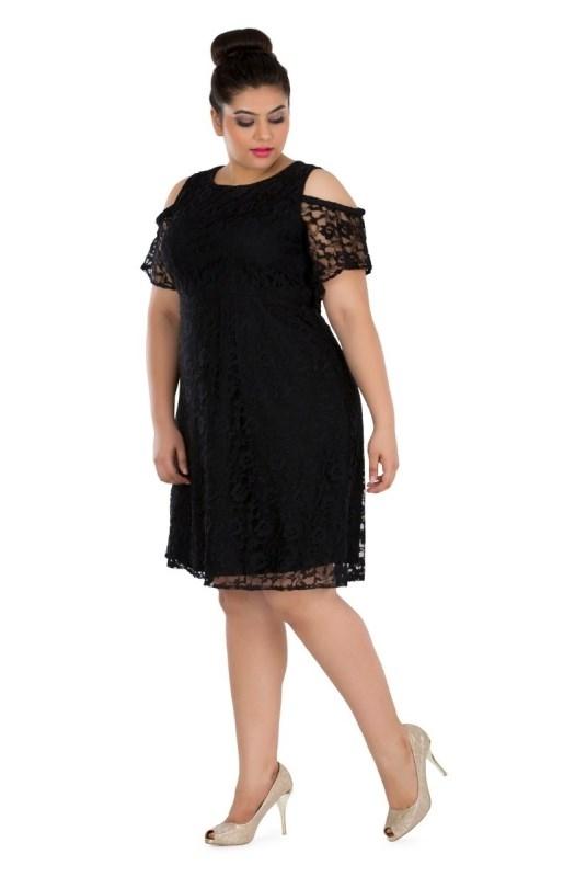 Laced Cold Shoulder Dress