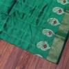 Emerald green Handloom Banarasi with traditional meenakari paisley motif