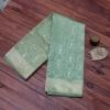 Soft pastel green Handloom Banarasi with precise geometric jaal